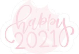 Happy 2021 cutter & stencil set