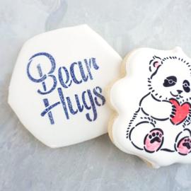 Bear Hugs Stencil