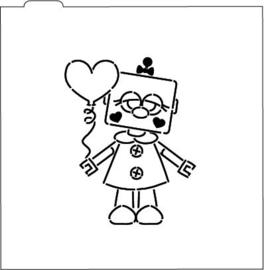 Valentijn robot  PYO stencil