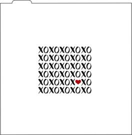 XOXO silk screen  cookie stencils (2 - delig)