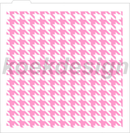 Houndstooth  cookie stencil