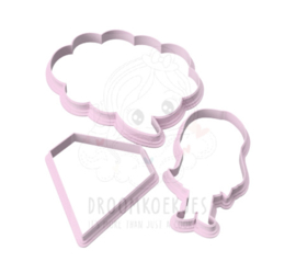 Super mama cookie cutter set