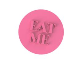 stempel incl. handvat. EAT ME  7,5 cm.