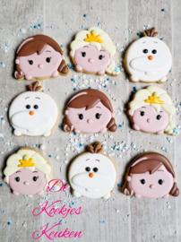 Tsum tsum Anna cookie cutter & hulp stencil