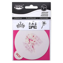 "JEM STENCIL - PRINCESS SET OF 3 (90MM / 3.5"")"