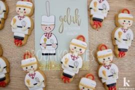 Geluks popje 6 KOEKENBAKKER XL cookie cutter & kaartje(S)