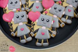 Valentijn robot cookie cutter & stencil