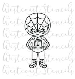 Kid spiderman stencil