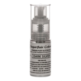 Sugarflair Pump Spray Glitter Dust -Dark Silver