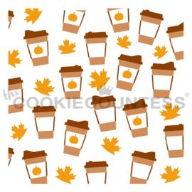 Latte cups 3 Piece stencil set