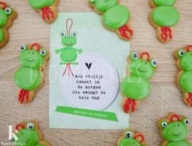 Geluks popje 3 kikker cookie cutter & kaartje(S)