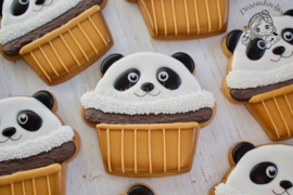 Panda cupcake cookie cutter