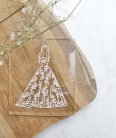 Trouwen - bruid jurk floral