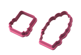 Frankestein couple cookie cutters
