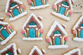 Kerst huisje cookie cutter