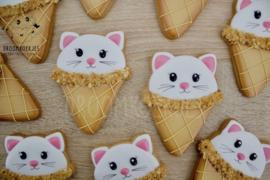 Kat ijsje cookie cutter