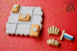 Koningsspelen mini's 4 delig cookie cutter set