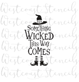 Something wicked cookie stencil