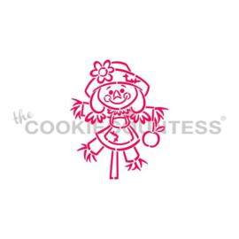 Scarecrow Girl Stencil - Drawn by Krista