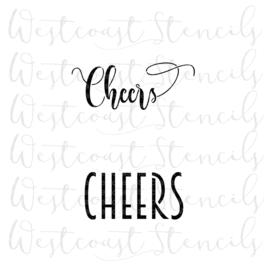 Cheers cookie stencil