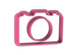 Fototoestel cookie cutter