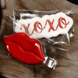 XOXO  cookie cutter & stencil