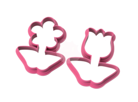 Duo bloem cookie cutters