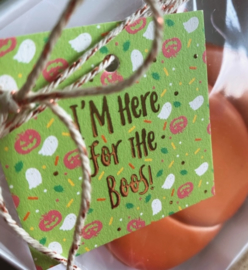 I'm here for the BOOs !  5,5 by 5,5 cm - rose gold folie -