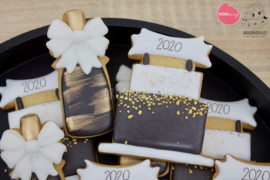 Champagnefles met strik  cookie cutter