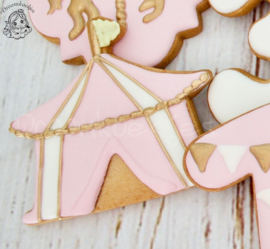 Carrousel tent cookie cutter
