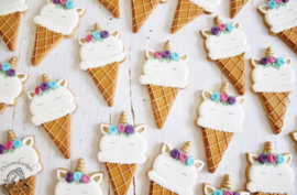 Unicorn hoorn ijsje cookie cutter