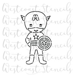 Kid capt America cookie stencil