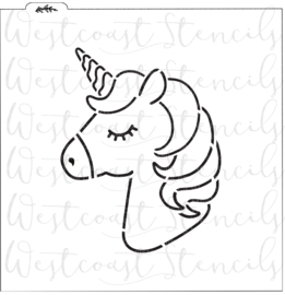 Unicorn  PYO cookie stencil