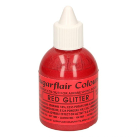 Sugarflair airbrush colouring glitter red 60 ml