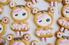 Donut meisje cookie cutter & PYO stencil