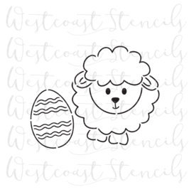 sheep with egg  PYO cookie stencil