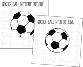 Voetbal cookie stencil