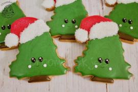 Kerstman boom cookie cutter