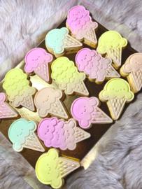 ijsjes stempel set & cookie cutter - 4 delig