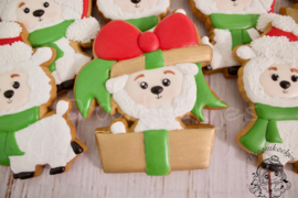 Present christmas Llama cookie cutter