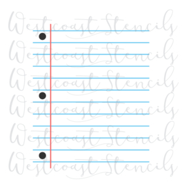 Schrift (2 delig) cookie stencil