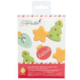 Sweet sugarbelle - mini cookie cutters - OH CHRISTMAS TREE (4 PIECE)