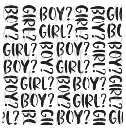Boy Girl  cookie stencil