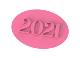 stempel incl. handvat. 2021  7,5 cm.
