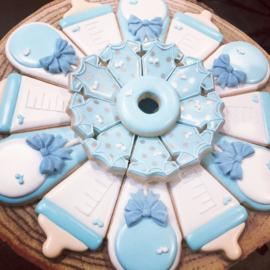 Baby schotel - platter flesje & rammelaar cookie cutters 2 pieces