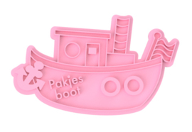 """""""pakjes"""" boot cookie stempel & cookie cutter - 2 delig"""