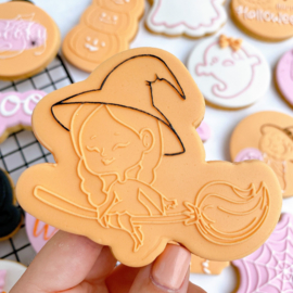 Halloween -Heks outbosse & cookie cutter 2 delig