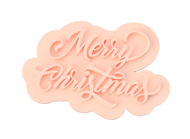 Merry christmas cookie stempel  & cookie cutter - 2 delig