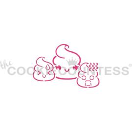 Poop Emoji PYO Stencil