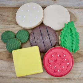 build a burger  5,8 cm cookie cutters 5 delig